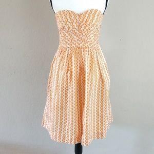 Anthropologie antumbra silk blend strapless dress